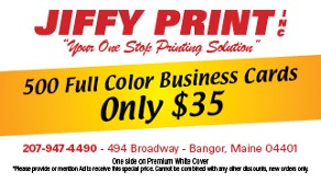 Business Card, Professional Copying Services in Bangor, ME